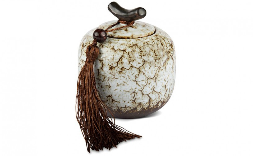 Porzellan Teedose, weiß 200ml geschlossen