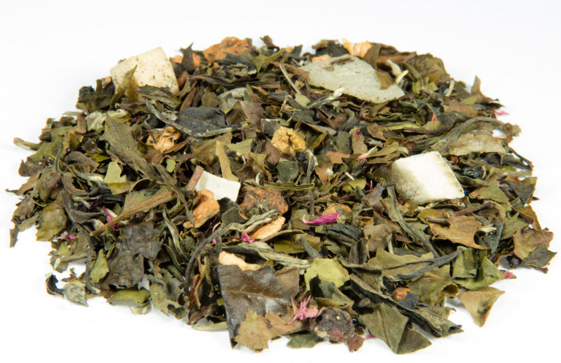 Weißer Tee 'Granatapfel-Cassis-Aloe Vera'
