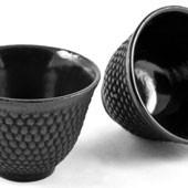 MAOCI Gusseisen-Teacups Arare (schwarz), 2 Stück, 0,15L - Vorschau
