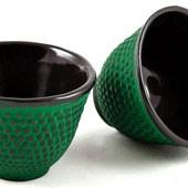 MAOCI Gusseisen-Teacups Arare (grün), 2 Stück, 0,15L - Vorschau