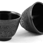 MAOCI Gusseisen-Teacups Nanyang (schwarz), 2 Stück, 0,15L - Vorschau