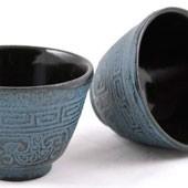 MAOCI Gusseisen-Teacups Nanyang (himmelblau), 2 Stück, 0,15L - Vorschau