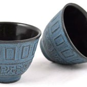 MAOCI Gusseisen-Teacups Chisaka (himmelblau), 2 Stück, 0,15L - Vorschau