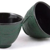 MAOCI Gusseisen-Teacups Mito (grün), 2 Stück, 0,15L - Vorschau