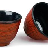 MAOCI Gusseisen-Teacups Mito (kaminrot), 2 Stück, 0,15L - Vorschau