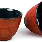 MAOCI Gusseisen-Teacups Tsuki (kaminrot), 2 Stück, 0,15L - Vorschau