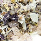 Früchtemischung 'Coconut Lavender Blues', säurearm