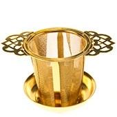 Goldfarbener Dauerfilter aus Edelstahl