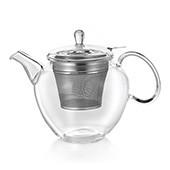 Glas Teekanne 'Donald' 1,0L mit Tüllensieb