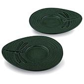 Gusseisen Cup-Untersetzer Mito (grün), 2 Stück