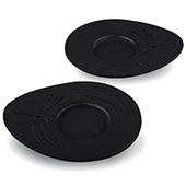 Gusseisen Cup-Untersetzer Mito (schwarz), 2 Stück