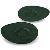 Gusseisen Cup-Untersetzer Reika (grün), 2 Stück