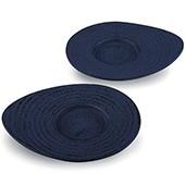 Gusseisen Cup-Untersetzer Ume (nachtblau), 2 Stück