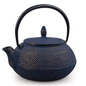 Teekanne Gusseisen Arare 0,9L (nachtblau/gold)