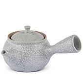 Keramik Kyusu hell-grau bemustert, 250 ml