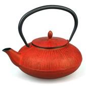 MAOCI Gusseisen-Teekanne Dalian (kaminrot) - 0,75L - Vorschau