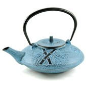 MAOCI Gusseisen-Teekanne Kitami flach (himmelblau) - 1,25L - Vorschau