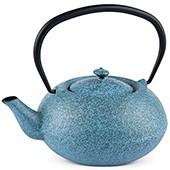 MAOCI Gusseisen-Teekanne Komo (sprayed, himmelblau) - 1,0L - Vorschau