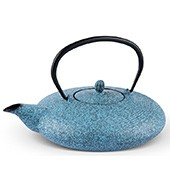 MAOCI Gusseisen-Teekanne Tsuki ( sprayed, himmelblau) - 1,1L - Vorschau