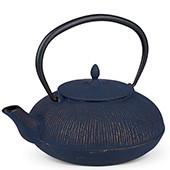 MAOCI Gusseisen-Teekanne Dalian (nachtblau/goldfarben) - 1,2L