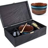 Matcha Geschenk-Set Fudo in schwarzer Holz-Geschenkbox
