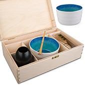 Matcha Geschenk-Set offene Box, natur