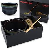 Matcha-Geschenkset Taka im Karton, offen