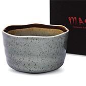 Matcha-Schale 400ml mit gesprenkeltem Muster, mit Geschenkkarton