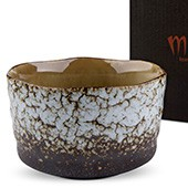 Matcha-Schale 400ml helles Muster, mit Geschenkkarton