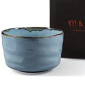 Matcha-Schale 400ml im Geschenkkarton, Blauton