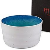 Matcha-Schale 400ml weiß blau, mit Geschenkkarton