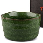 Matcha-Schale 400ml dunkelgrün mit Verpackung