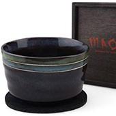 Matchaschale 400ml mit Filzuntersetzer in Holzbox, schwarz