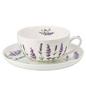 Porzellan Fine Bone China Teetasse 'La Vendel' (200ml, 2-tlg)
