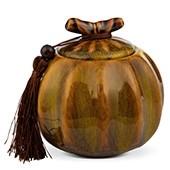Porzellan Teedose gelb-braun, 500ml