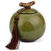 Porzellan Teedose hellgrün, 500ml