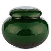 Porzellan Teedose grün gemustert, 210ml
