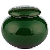 Porzellan Teedose grün gemustert, 440ml