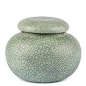 Porzellan Teedose hellgrün gesprenkelt, 210ml