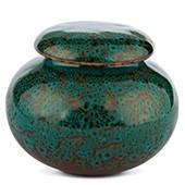 Porzellan Teedose türkis gemustert, 210ml