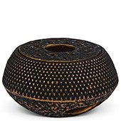MAOCI Gusseisen Stövchen Arare (schwarz-gold)