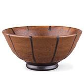 Tee-Schale 200ml - braun mit dunklen Streifen