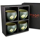 Prozellan Teacups / Teebecher Geschenkset (grün)