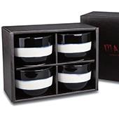 Teeschalen-Set schwarz
