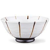 Tee-Schale, ca. 200ml - hell mit dunklen Streifen