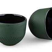 MAOCI Gusseisen-Teacups Arare Modern (grün), 2 Stück