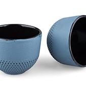 MAOCI Gusseisen-Teacups Arare Modern (himmelblau), 2 Stück