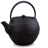MAOCI Gusseisen-Teekanne Kama 10 (schwarz-gold) - 1,0L